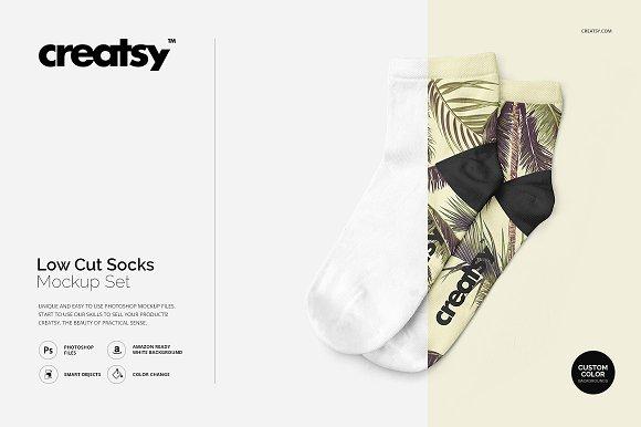 Low Cut Socks Mockup Set