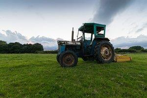 Tractor in a Field, Peak District