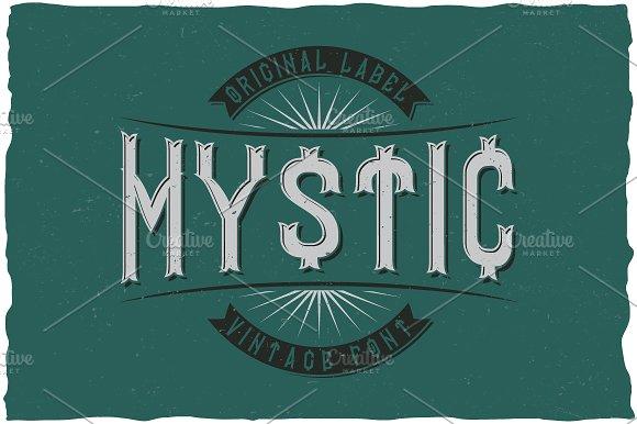Mystic Vintage Label Typeface