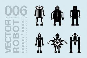 robots flat icons 005