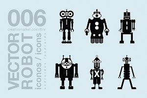 robots flat icons 006
