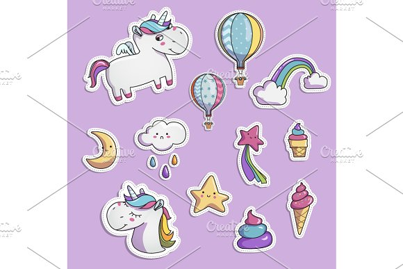 Unicorn Elements For Your Design