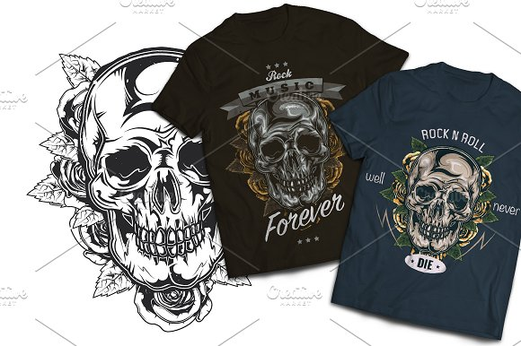 Rocknroll T-shirts And Poster Labels