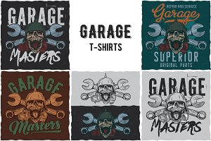 Collection of Garage T-shirt Designs