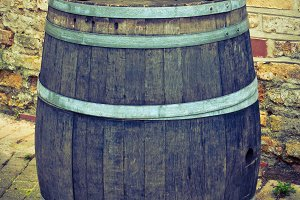 Old big barrel for wine