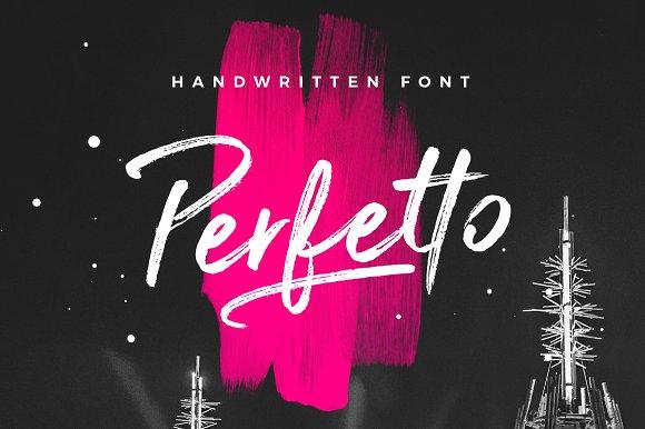 perfetto brush font script fonts creative market