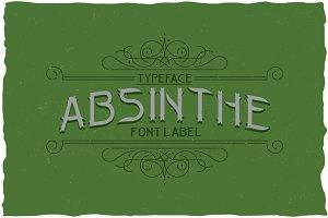 Absinthe Vintage Label Typeface