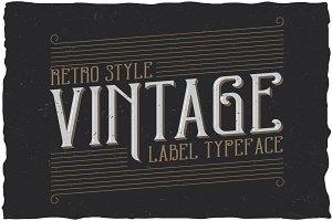 Retro Style Label Typeface