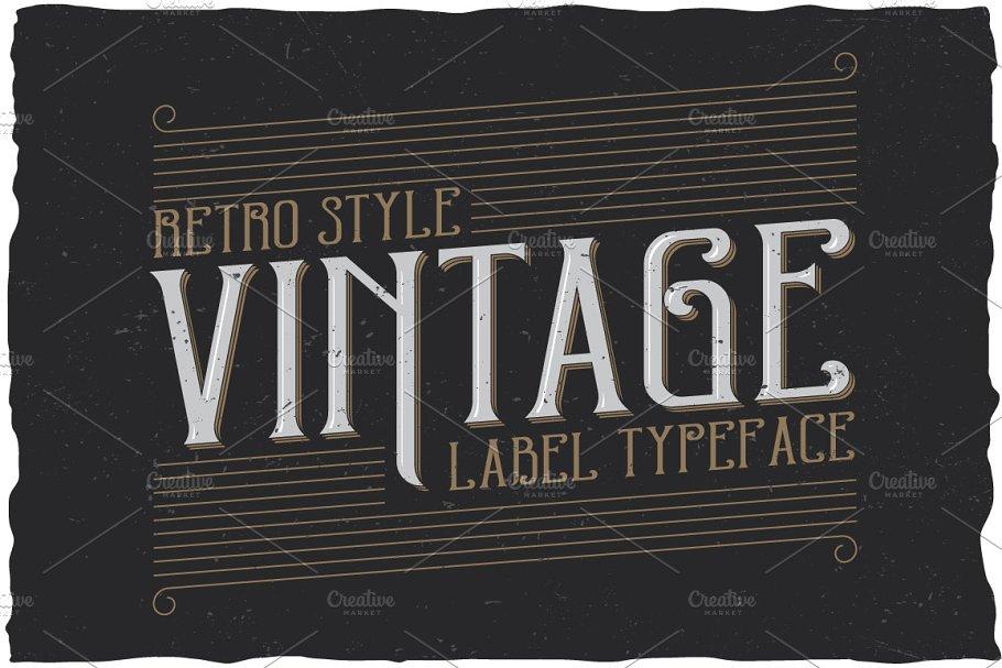 Retro Style Label Typeface ~ Display Fonts ~ Creative Market