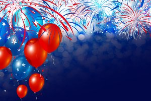 Balloon and firework background