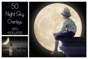 50 Night Sky Overlays
