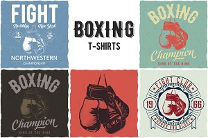 Collection of Boxing T-shirt Designs