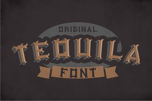 Original Tequila Label Typeface