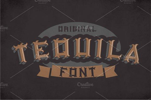 Original Tequila Label Typeface