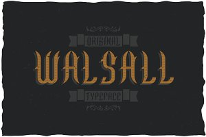 Walsall Vintage Label Typeface