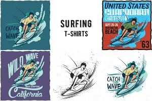 Surfing T-shirts Labels