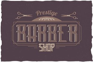 Barber Vintage Label Typeface