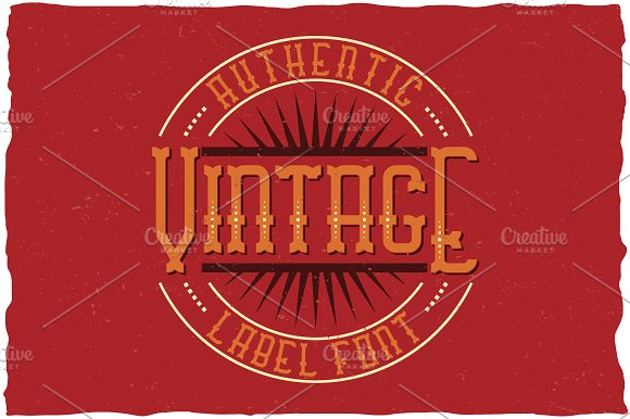Vintage Classic Look Label Typeface