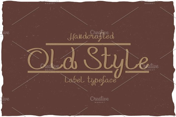 Handcrafted Old Style Label Typeface
