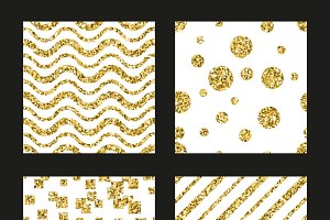Glitter patterns set for cards