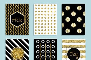 Gift card template with gold foil