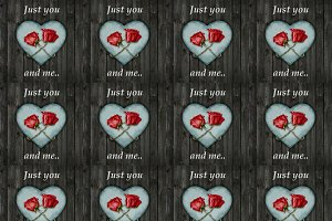 Elegant Love Concept Collage Design Pattern