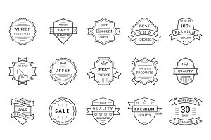80 Sale, Discount, Offer Badges
