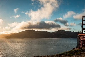 Golden Gate Bridge Sunset Panorama