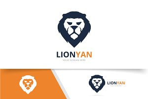 Vector animal lion logo