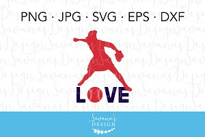 Softball Player SVG Cut File