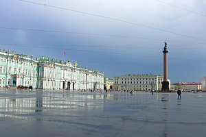 Palace Square in St. Petersburg.