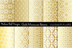 Gold Moroccan Patterns
