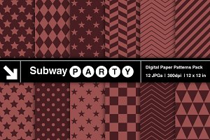 Marsala Geometric Digital Papers