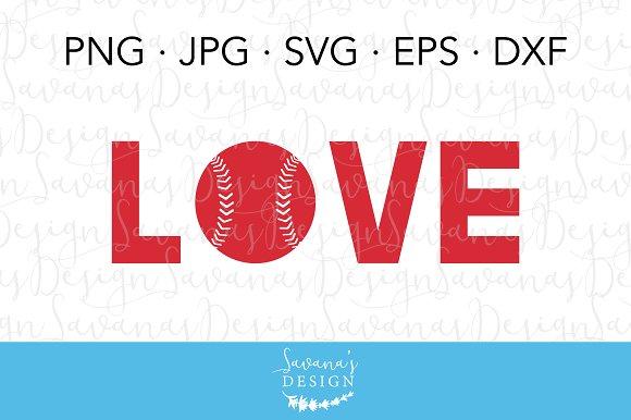Love Softball Baseball Cut Files