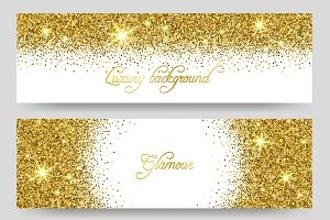 Glitter greeting card design