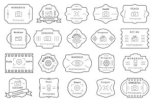 85 Photography Badges / Labels