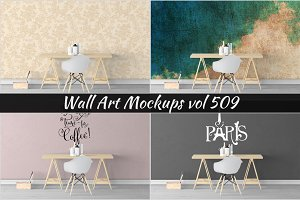 Wall Mockup - Sticker Mockup Vol 509