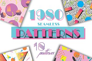 1980s seamless pattern