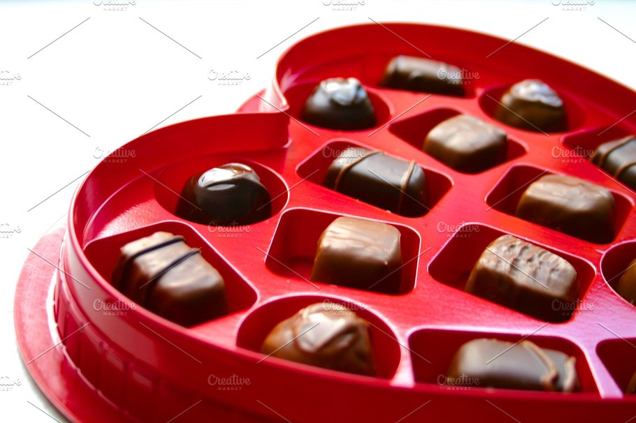 Box Of Chocolate For Valentine S Day Holiday Photos Creative Market