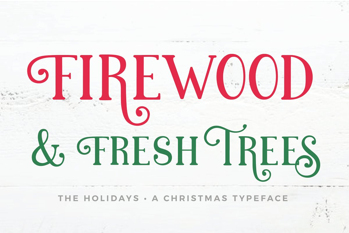 The Holidays - A Christmas Typeface ~ Display Fonts ~ Creative Market