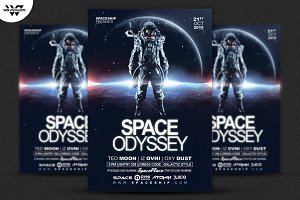 SPACE ODYSSEY Flyer Template