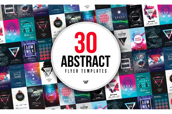 30 ABSTRACT Flyer Bundle