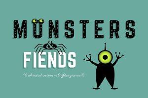 Monsters & Fiends (16 vectors)