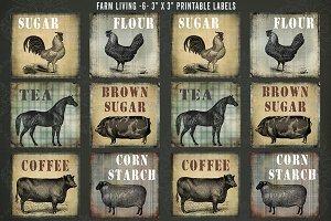 Farm Living Labels & Custom Template