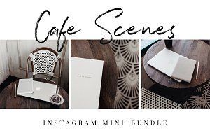 Cafe Work Scenes - Insta Mini-Bundle