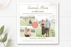 Mini Session Template PSD