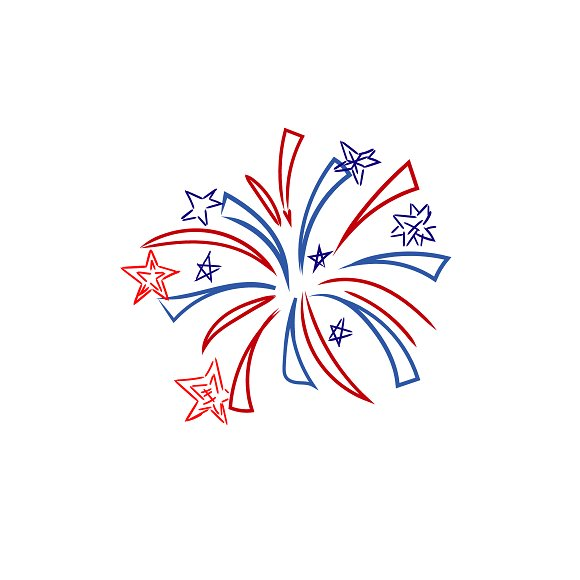 Fireworks 4th Of July Sketch
