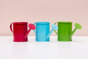 Coloured watering can # 2