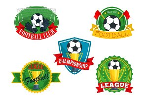 Vector icons badges for football club championship