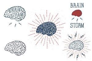 Hand Drawn Brain Illustraions